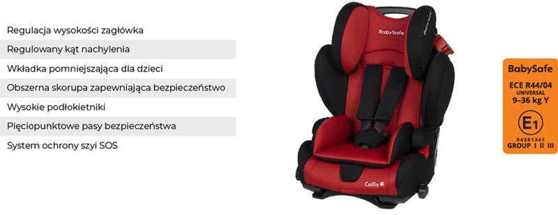 babysafe collie fotelik samochodowy