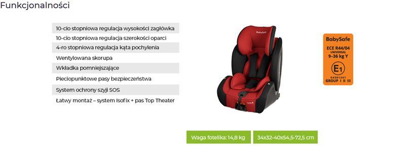 babysafe corso fotelik samochodowy