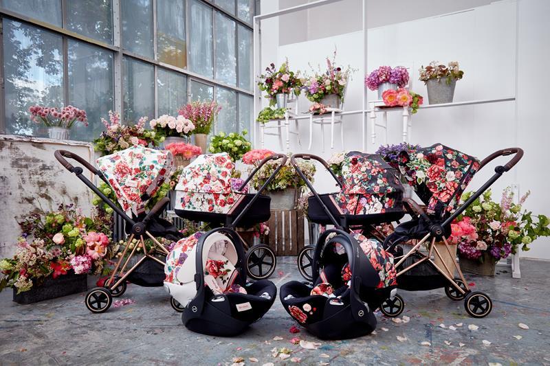 cybex priam 2.0 spring blossom wózek 3w1