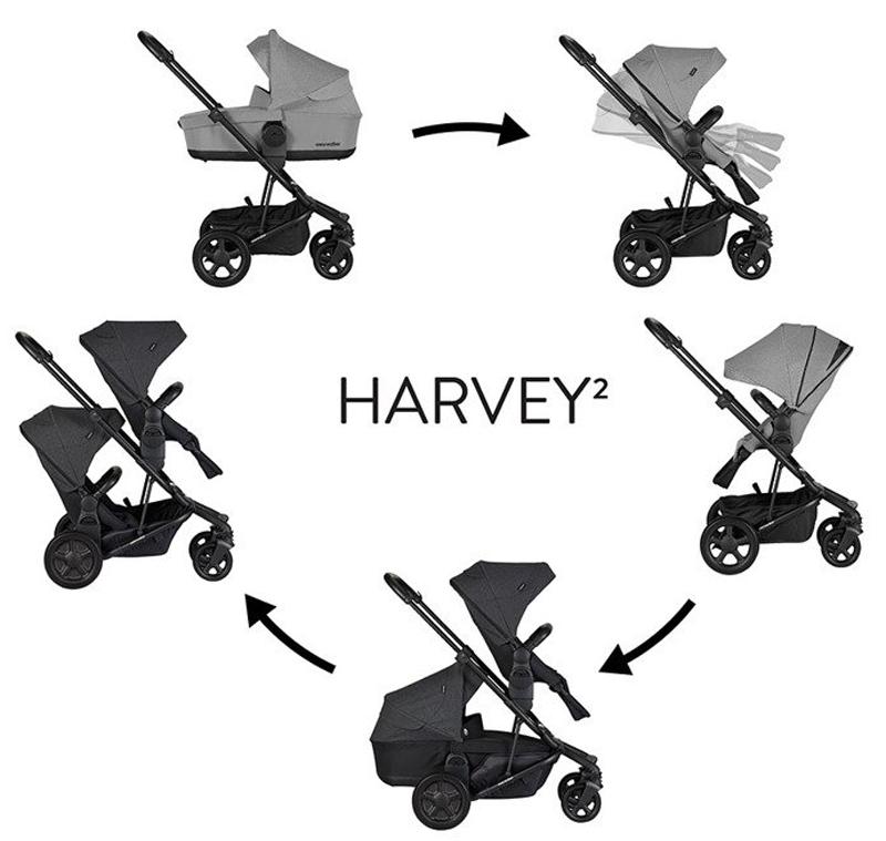 easywalker harvey2 wózek 2w1