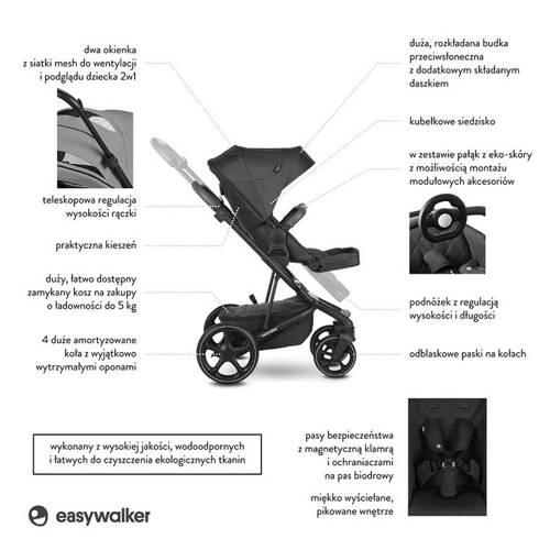 Easywalker Harvey 3 wózek 2w1