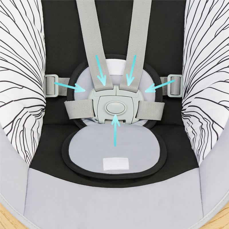 kinderkraft lumi elektryczny leżaczek-bujaczek
