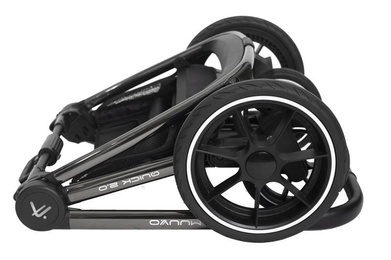 muuvo quick 2.0 black chrome wózek spacerowy